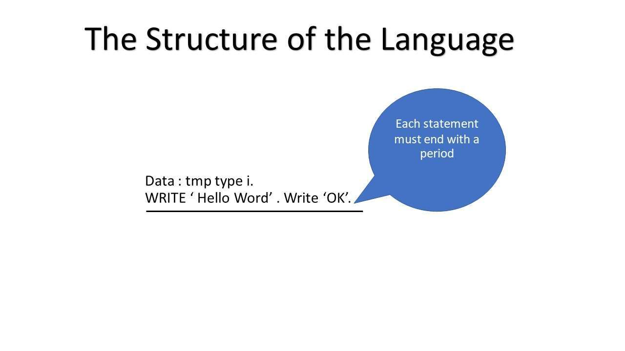 ABAP structure of the language
