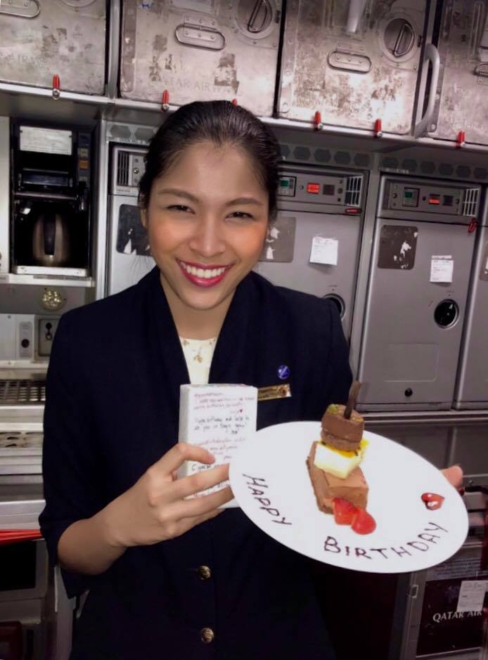 Flight attendants/air hosts/hostesses